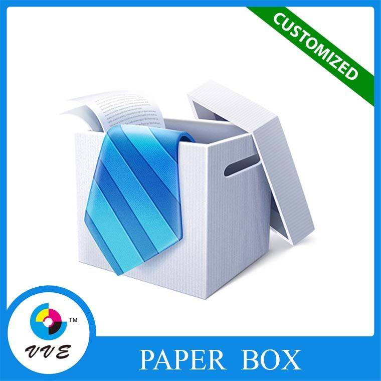 Custom necktie packaging box bow tie packing box rigid hard paper manufacture box