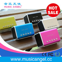 new promotional items 2014 usb download free mp3 songs portable bluetooth speakers Music Angel line in micro SD/TF card