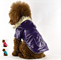 Purple Dog Clothes winter Hoodies Waterproof Pet Outfit Coat Wholesale [FD031A]