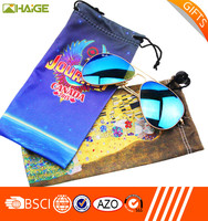 multi-purpose microfiber printed sunglasses pouches/ bags/cloth wholesale