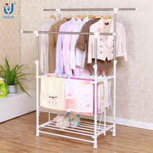 Used foldable double layer clothing rack for sale
