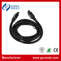High speed circle round hdmi to hdmi 1.8m male to male V1.4 hdmi lead