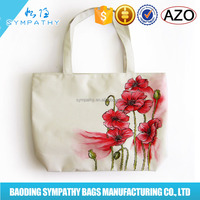 new products 2016 cotton canvas tote bag fashion women bags