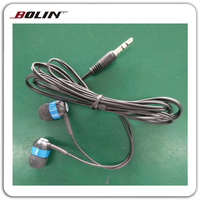 PVC Cable Fashion Christmas Promotional Gift Earbuds And Headphones