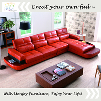 Leather sectional corner sofa wholesale leather sofa price WQ6928