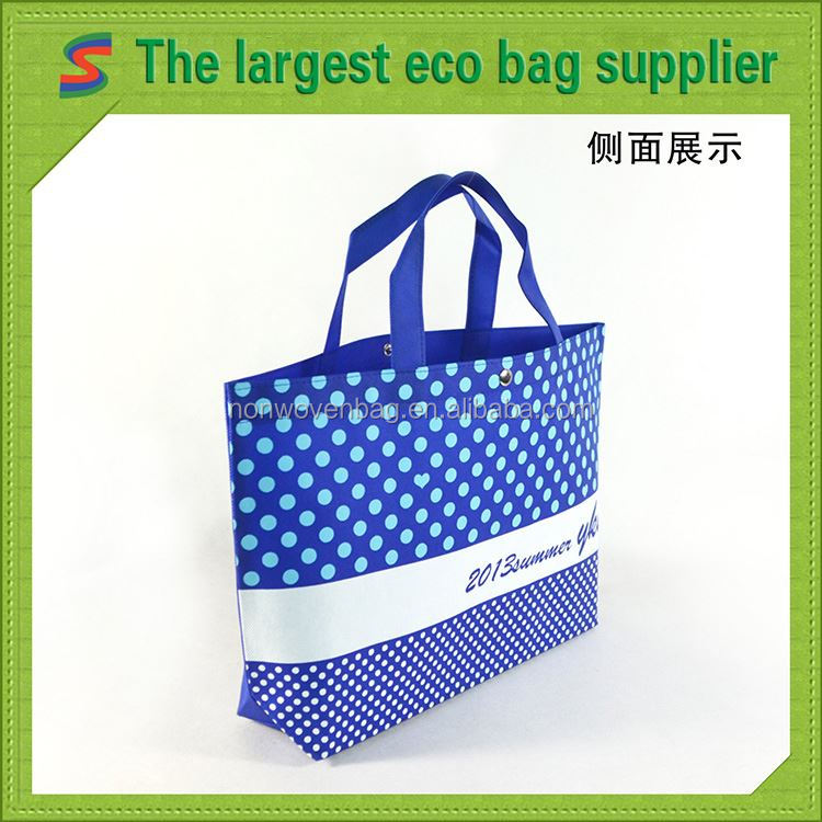 Printed Pp Nonwoven Bag Pink Non Woven Shopping Bag