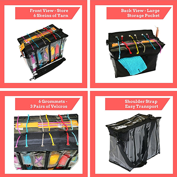 Polyester Lightweight Knitting Bag Yarn Storage Bag Yarn Organizer