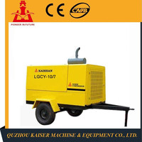 7 bar/102psi LGCY-10/7 portable minimal energy mobile diesel powered screw air compressor