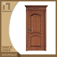 House Main Entrance Entry Outdoor Fireproof American Wood Door
