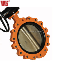 Full Lugged Butterfly Valve with Gearbox Reducer