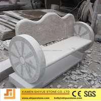 Outdoor decoration stone bench