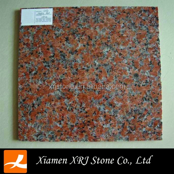 wholesale granite G562 maple red with china granite peach red