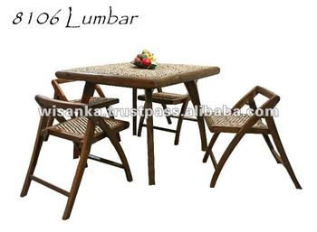 Lumbar Set Indoor Rattan Furniture