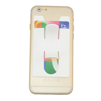 hand phone back silicone business card holder