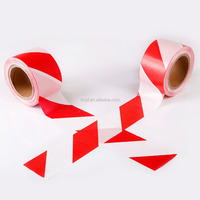 Economy Red and White Hazard Warning Barrier Tape 7cm x200m