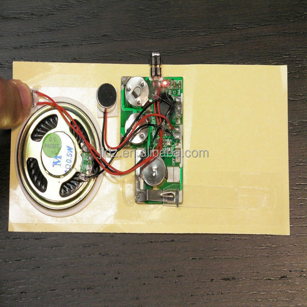 Recordable Talking Music Sound Module for Greeting Card