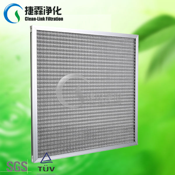 High quality G4 aluminium frame pleated panel metal mesh water filters