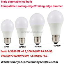 online shop china G50 5w E27 LED light dimmable bulb with EMC CE