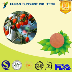 China Supplier Goji Fruit Extract For Health Care Products