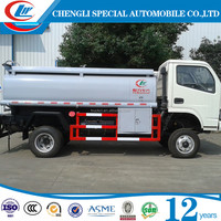 China made DONGFENG 2.2cbm mobile petrol tank refueler tender fuel filling truck for sale