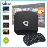 S905 cpu 2G DDR3 RAM 16G EMMC ROM Q-BOX Android tv box and i8 wireless keyboard collocation mouse