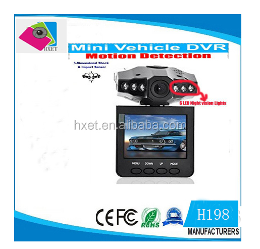 "HD 198 car camera car recorder car dvr 120 degree 2.5"" vehicle dvr vehicle camera"