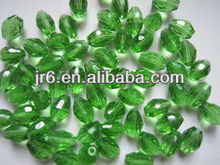 Apple Green Olive Shaped Crystal Bead window Curtains