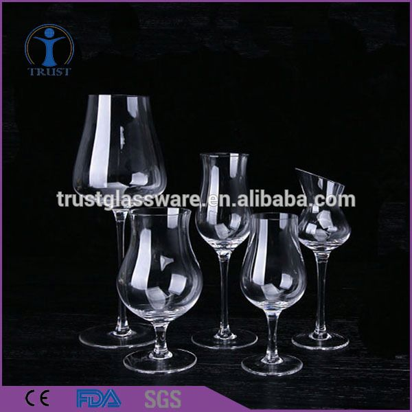 A Variety Of Specifications Inclined Mouth Thick Stem Summer Fresh Unusual Wedding Tulip Shaped Wine Glass