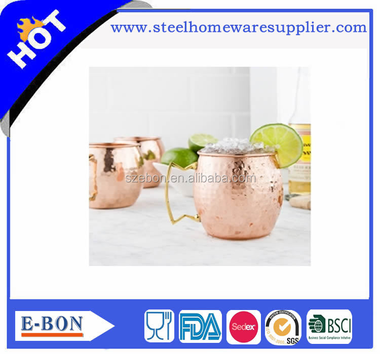 Factory moscow mule mug 100% copper Mug-Beer Cup wine mug in Drinkware