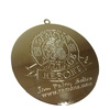 Custom Made Shiny Gold Medal Metal