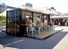 Good materials are used for elegant Container coffee shop , Modular coffee shop container , Restaurant container