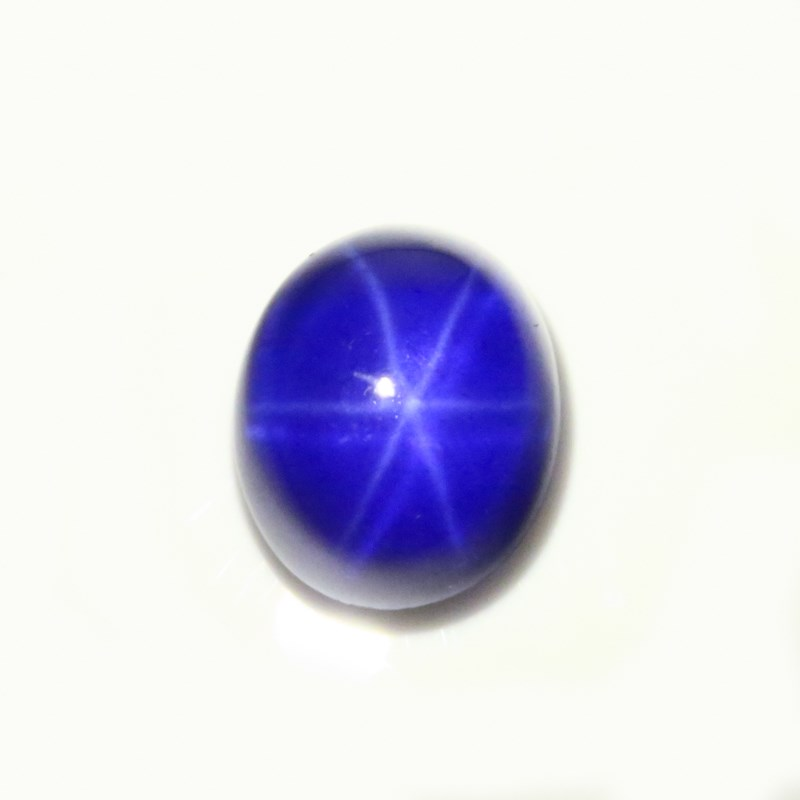 Lab Created Oval Cabochon Synthetic Blue Star Sapphire in Stock
