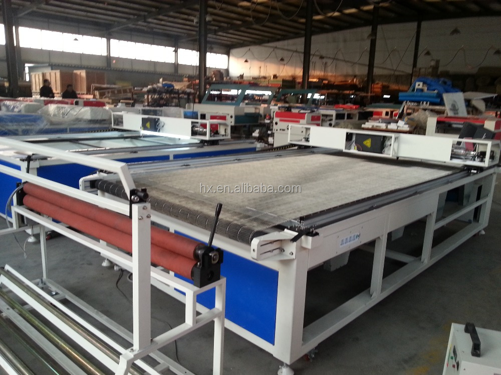 HX-1220 co2 best cnc price auto-feeding fabric automatic laser die cutting machine