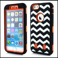 Hot wave lines style back strong mobile phone case for i phone 6