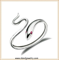 high quality adjustable 925 sterling silver snake ring animal sex women s ring