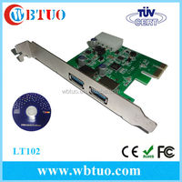 PCI Express to serial 2 ports USB 3.0 converter card