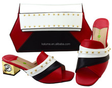 Fashion Red Matching Italian Shoes And Bag Set African Women Matching Italian Shoe And Bag Set Italian Shoes With Bags YM002