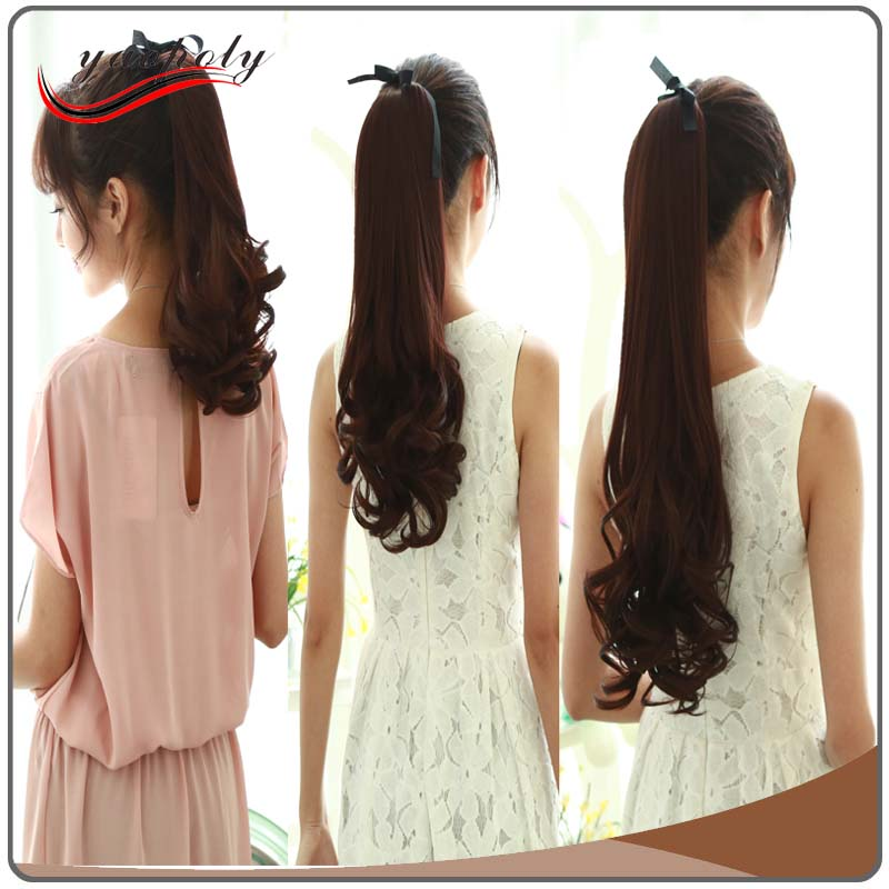 afro hair products 24 Long straight Hair Extension Ponytail Hair Piece Clip In Ponytail