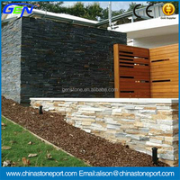 Black Slate Culture Stone For Outside Wall Cladding