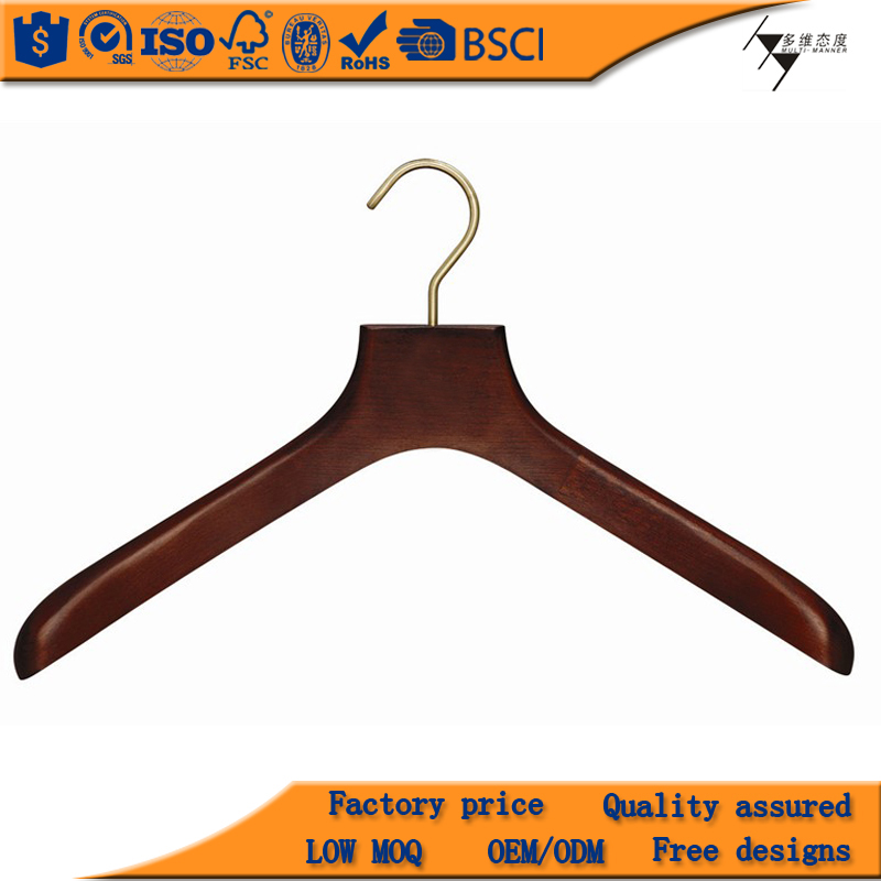 Classy new arrival wooden hangers wholesale wedding dress shop