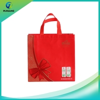 Factory wholesale recyled heat seal ultrasonic laminated nonwoven bag with logo