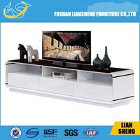Foshan Liansheng 2015 Design Modern High Gloss TV Wall Unit For Lliving Room