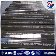 ASTM A500 grade C mild steel square tubing weight chart