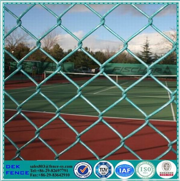 Indoor Vinyl Coated Plastic Chain Link Fence
