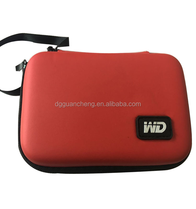 GC- Foam protection Red fake leather USB Drive storage EVA packing case