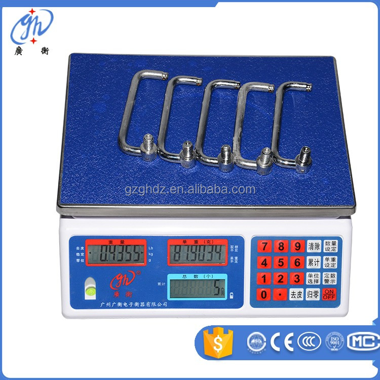 industry use Capacity 30kg / Readability 1g counting scale Weigh Bench Pieces Digital Tare