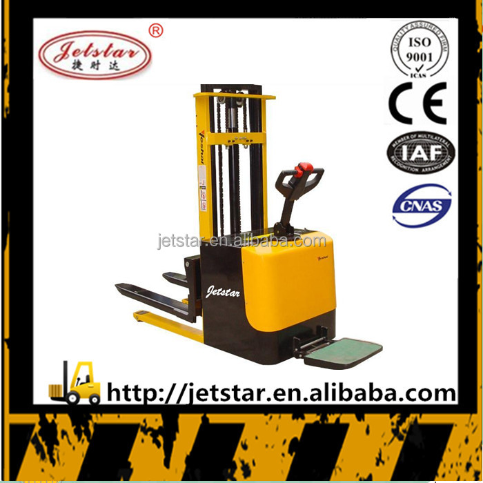 2.5m 1500kg lifting mini electric hydraulic stacker