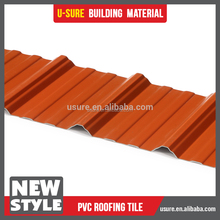 4 layers asa roofing tile / upvc roofing sheet / pvc roofing for transportation infrastructure custom design