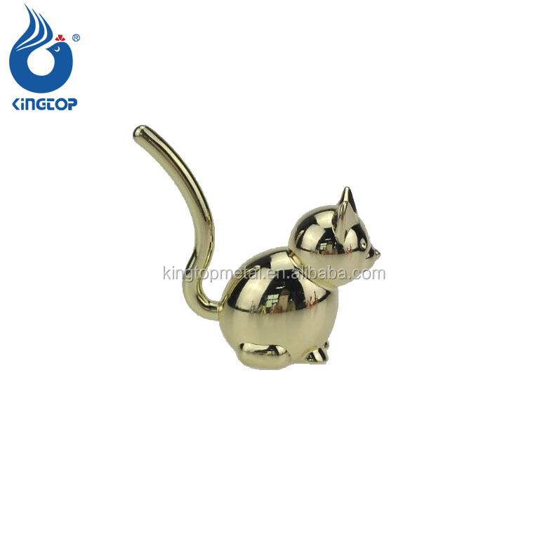 Hot Sale Metal Jewelry Holder 3D Cat Shaped Ring Holder For Decoration