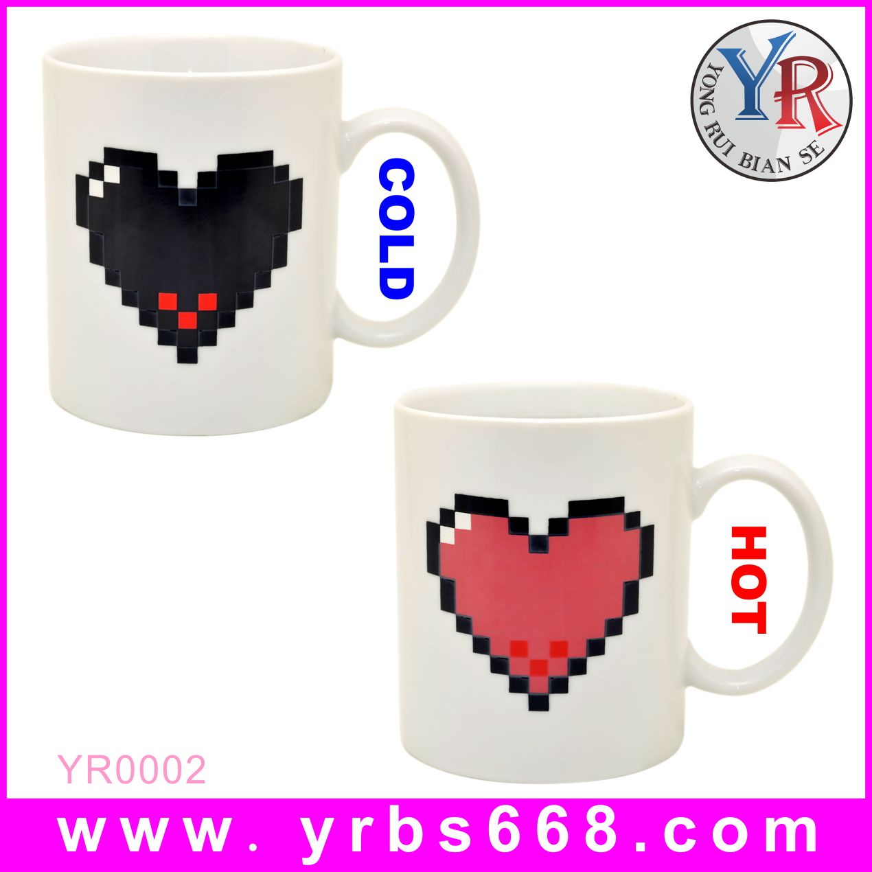 Custom amazing color change mugs best gift for girlfriend with your love